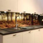 стеклянный экран для кухни
