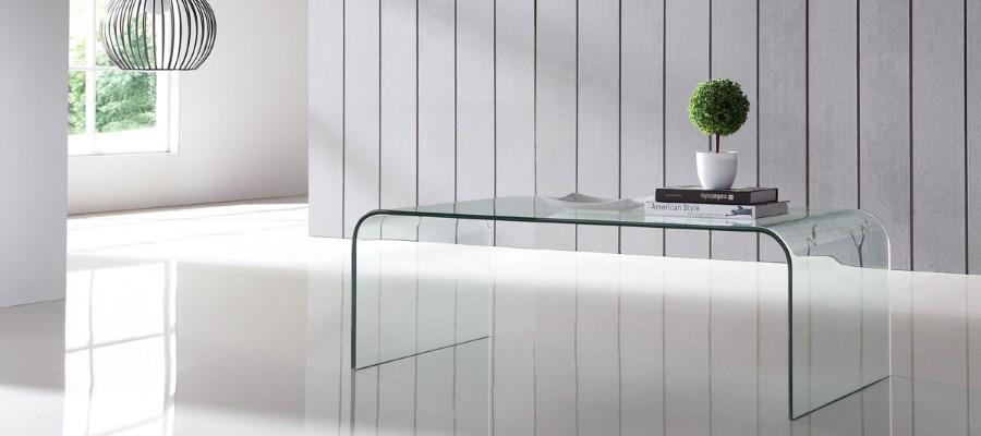 стол из гнутого стекла
