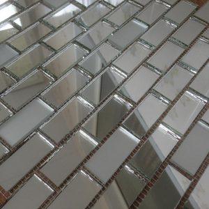 мозаика серебро зеркальное и матовое V/SM42-2