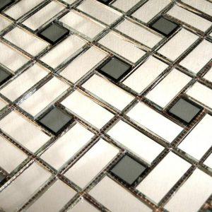 мозаика серебро графит