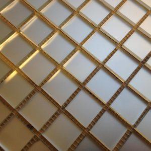 мозаика серебро матовое
