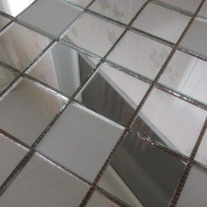 мозаика серебро + матовое серебро V/SM50